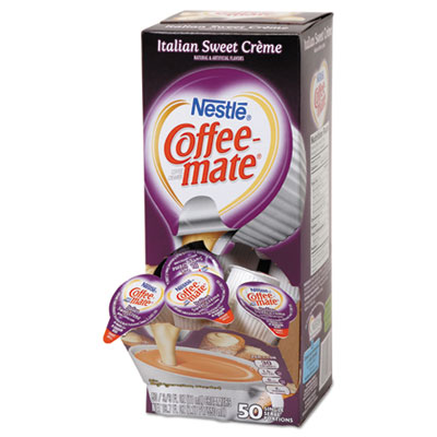 Liquid coffee creamer, italian sweet creme, 0.375 oz cups, 50/box, sold as 1 box, 50 each per box