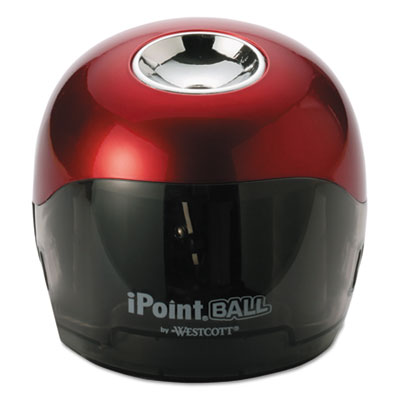 Ball battery sharpener, red/black, 3w x 3d x 3 1/3h, sold as 1 each