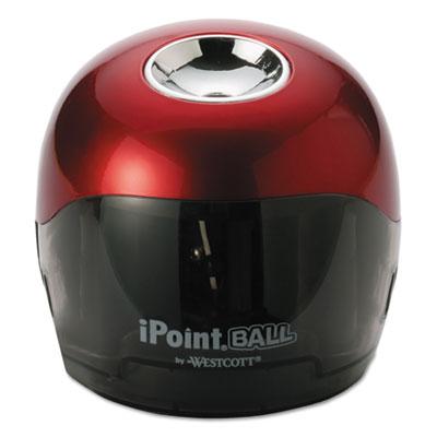Ball battery sharpener, red/black, 3w x 3d x 3 1/3h, sold as 1 each