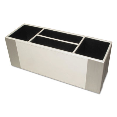 Architect line supply caddy, 4-compartment, 3 x 8 3/4 x 3, white/silver, sold as 1 each