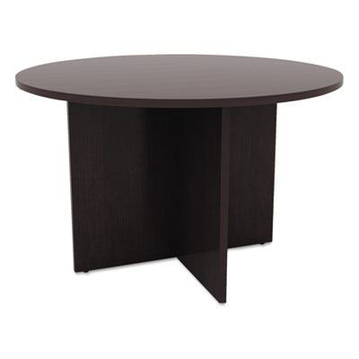 Valencia round conference table w/legs, 29 1/2h x 42 dia., espresso, sold as 1 each