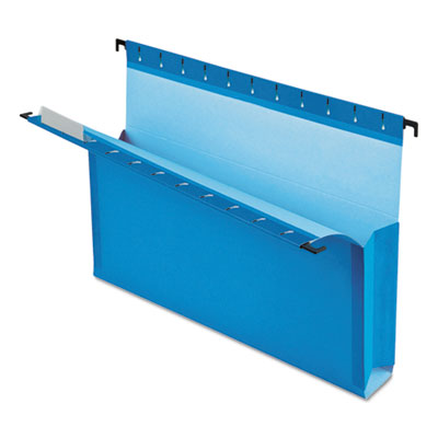 "Surehook reinforced hanging box files, 3"" exp with sides, letter, blue, 25/box, sold as 1 box, 25 each per box"