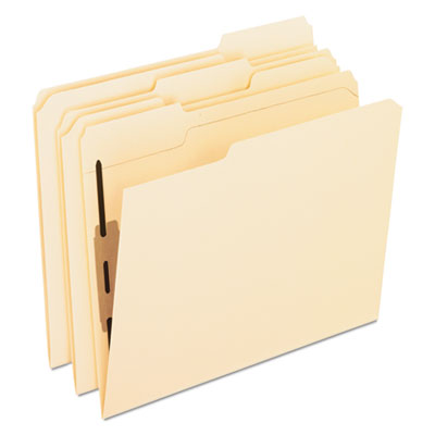 Folders with two bonded fasteners, 1/3 cut top tab, letter, manila, 50/box, sold as 1 box, 50 each per box