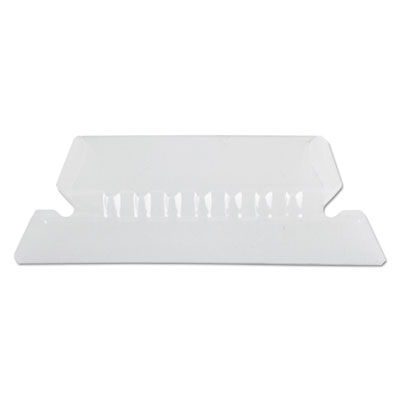Hanging file folder tabs, 1/5 tab, two inch, clear tab/white insert, 25/pack, sold as 1 package