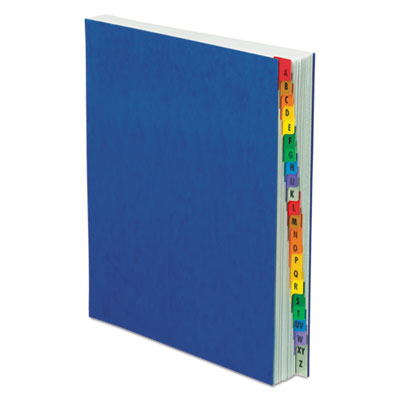 Pressguard expanding desk file, a-z, letter size, acrylic-coated, blue, sold as 1 each