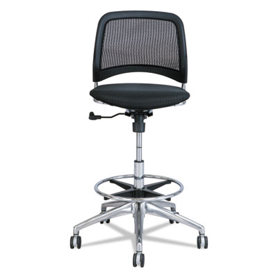 Reve series mesh extended-height chair, black, sold as 1 each