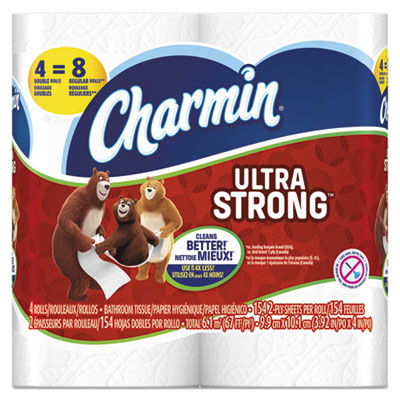 Ultra strong bathroom tissue, 2-ply, 4 x 3.92, 154/roll, 4 roll/pack, sold as 1 package