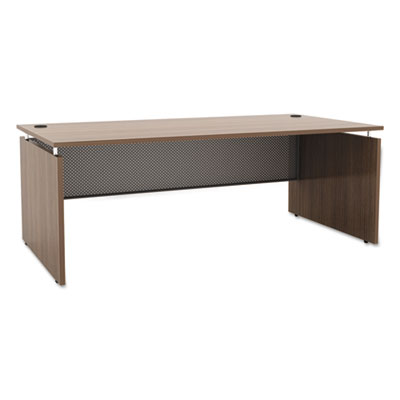 Sedina series straight front desk shell, 72w x 36d x 29 1/2h, walnut, sold as 1 each