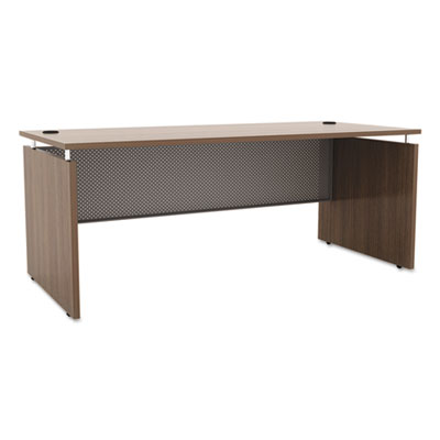 Sedina series straight front desk shell, 66w x 30d x 29 1/2h, walnut, sold as 1 each