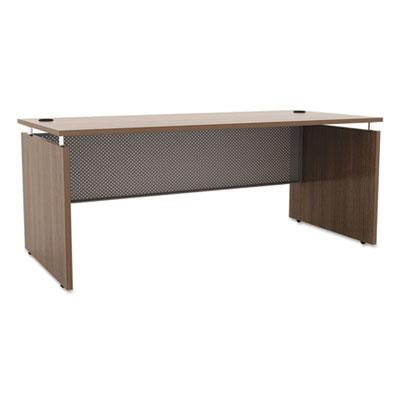 Sedina series straight front desk shell, 66w x 30d x 29 1/2h, walnut, sold as 1 each