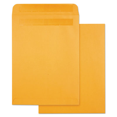 High bulk self-sealing envelopes, 9 x 12, kraft, 100 per box, sold as 1 box, 100 each per box
