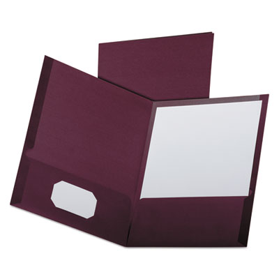 Linen finish twin pocket folders, letter, burgundy,25/box, sold as 1 box, 25 each per box
