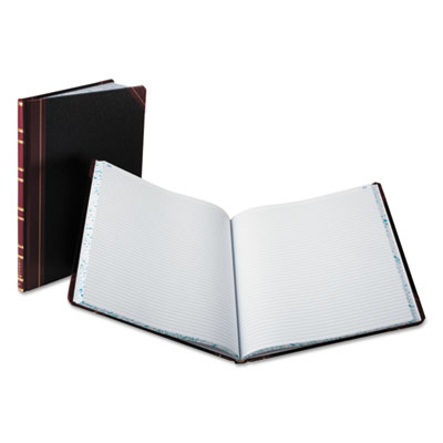 Record ruled book, black cover, 150 pages, 10 1/8 x 12 1/4, sold as 1 each