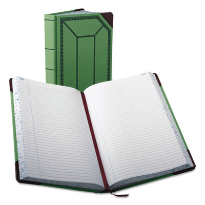 Record/account book, record rule, green/red, 500 pages, 12 1/2 x 7 5/8, sold as 1 each