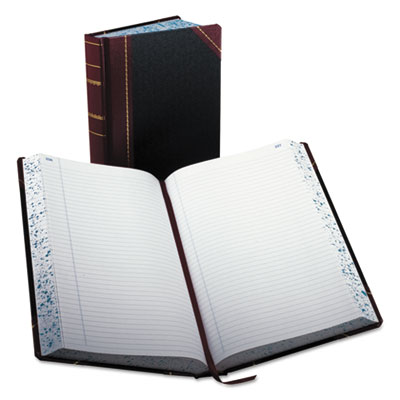 Record/account book, record rule, black/red, 500 pages, 14 1/8 x 8 5/8, sold as 1 each