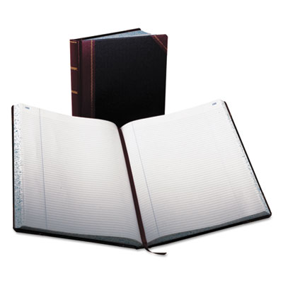 Record ruled book, black cover, 300 pages, 10 7/8 x 14 1/8, sold as 1 each