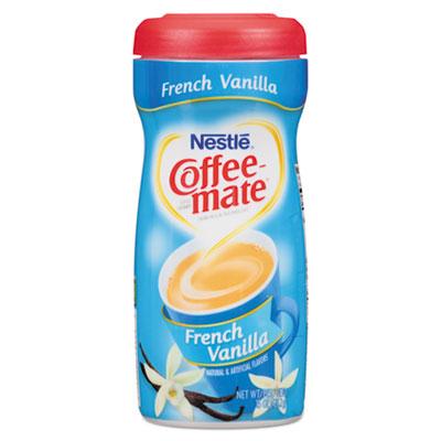 Non-dairy powdered creamer, french vanilla, 15 oz canister, 12/carton, sold as 1 carton, 12 each per carton