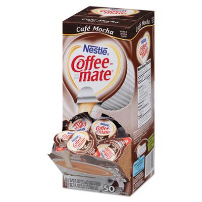 Liquid coffee creamer, caf? mocha, 0.375 oz cups, 50/box, sold as 1 box, 50 each per box