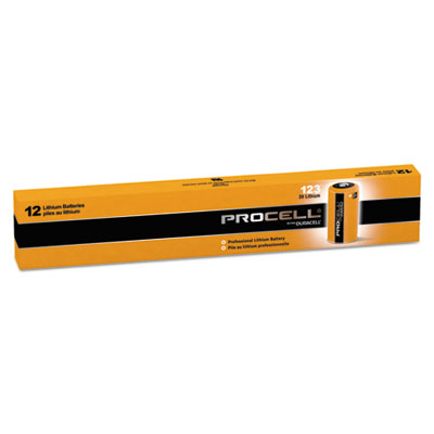 Procell lithium batteries, cr123, for camera, 3v,12/box, sold as 1 box, 12 each per box