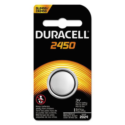Button cell lithium battery, 2450, 36/pk, sold as 1 carton, 36 package per carton