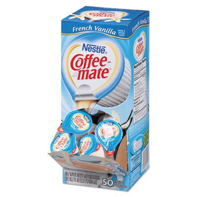 Liquid coffee creamer, french vanilla flavor .375 oz., 200 creamers/carton, sold as 1 carton, 200 package per carton