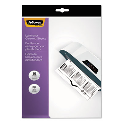 Laminator cleaning sheets, 3-10mil, 8 1/2 x 11, 10/pack, sold as 1 package