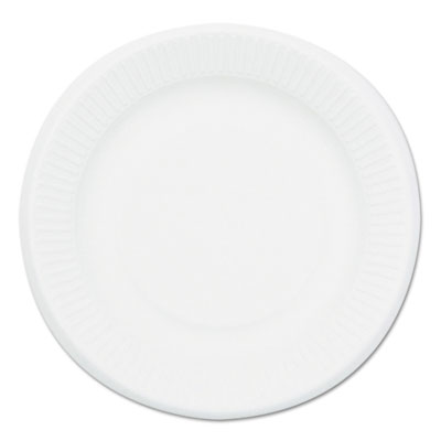 Compostable sugarcane bagasse 6 in plate, round, white, 1,000/carton, sold as 1 carton, 1000 each per carton