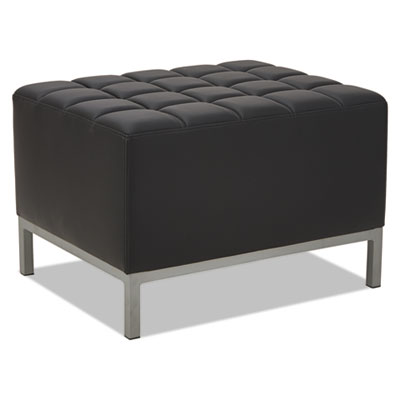 Qub series ottoman, 26 3/8 x 21 1/2 x 17 1/2, black, sold as 1 each