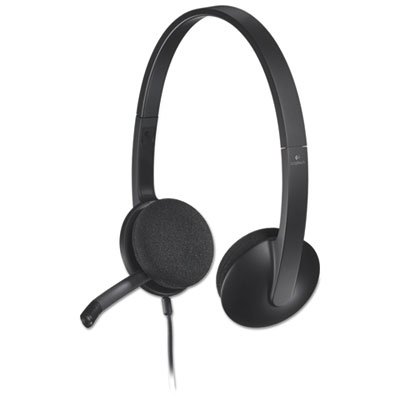 H340 corded headset, usb, black, sold as 1 each