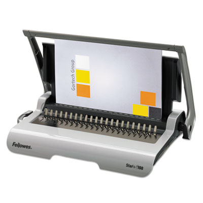 Star+ 150 manual comb binding machine, 17 11/16 x 9 13/16 x 3 1/8, white, sold as 1 each