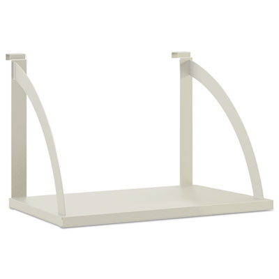 Vers? panel system hanging shelf, 24w x 12-3/4d, gray, sold as 1 each