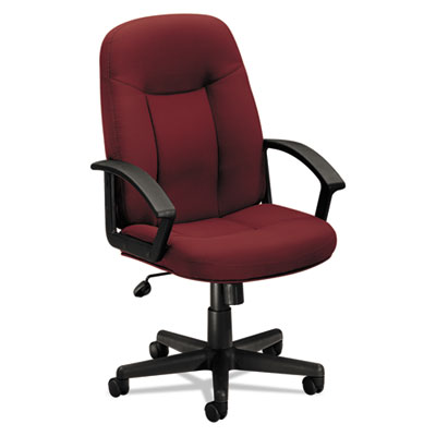 Vl601 series executive high-back swivel/tilt chair, burgundy fabric/black frame, sold as 1 each