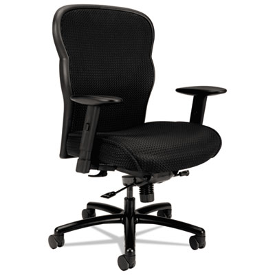 Vl705 series big & tall mesh chair, mesh back/fabric seat, black, sold as 1 each