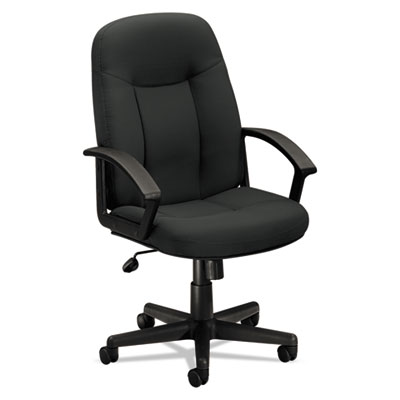 Vl601 series executive high-back swivel/tilt chair, charcoal fabric/black frame, sold as 1 each
