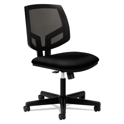 Volt series mesh back task chair with synchro-tilt, black fabric, sold as 1 each