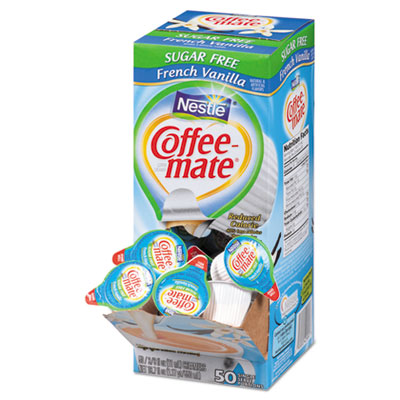 Sugar-free french vanilla creamer, .375oz, 50/box, sold as 1 box, 50 each per box