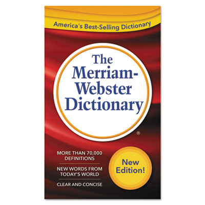 The merriam-webster dictionary, 11th edition, paperback, 960 pages, sold as 1 each