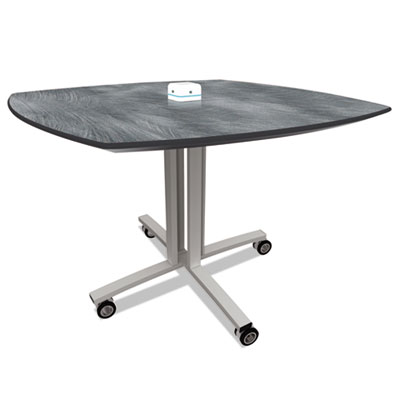 Reload mobile charging table, 36 x 36 x 29, pewter, sold as 1 each