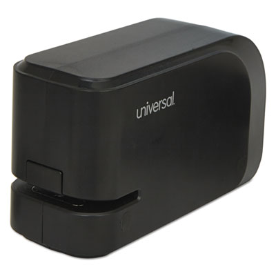 Electric half-strip stapler w/staple channel release, 20-sheet capacity, black, sold as 1 each