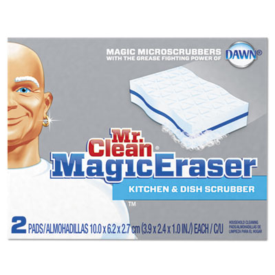 "Magic eraser kitchen scrubber, 3 9/10"" x 2 2/5"", 2/box, sold as 1 box, 2 each per box"