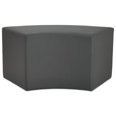 We series collaboration seating, arc bench, 38 3/8 x 21 x 18, slate, sold as 1 each