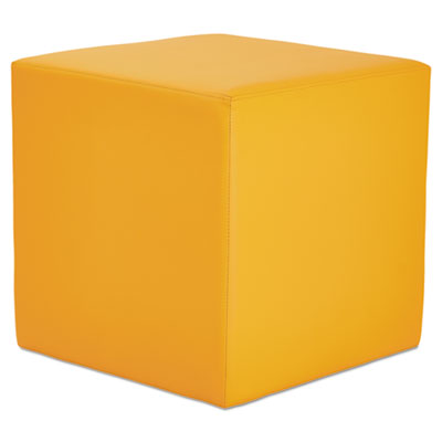 We series collaboration seating, cube bench, 18 x 18 x 18, saffron, sold as 1 each
