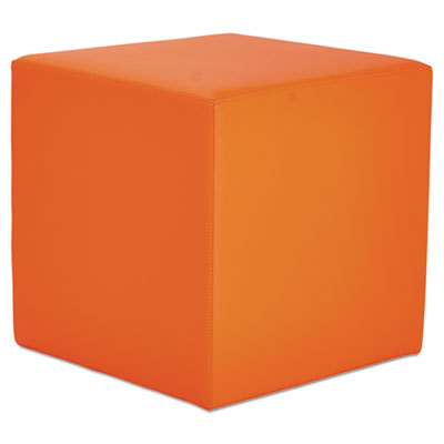 We series collaboration seating, cube bench, 18 x 18 x 18, mandarin, sold as 1 each
