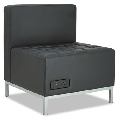 Qub series powered armless l sectional, 26 3/8 x 26 3/8 x 30 1/2, black, sold as 1 each