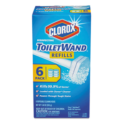 Disinfecting toiletwand refill heads, 6/pack, sold as 1 package