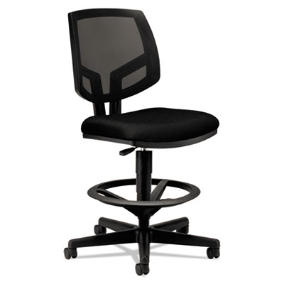Volt series mesh back adjustable task stool, black, sold as 1 each