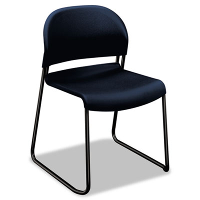 Gueststacker series chair, regatta blue with black finish legs, 4/carton, sold as 1 carton, 4 each per carton