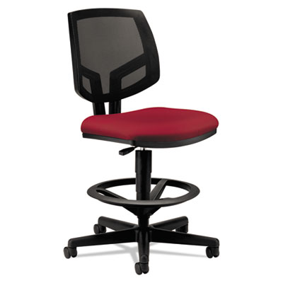 Volt series mesh back adjustable task stool, crimson, sold as 1 each