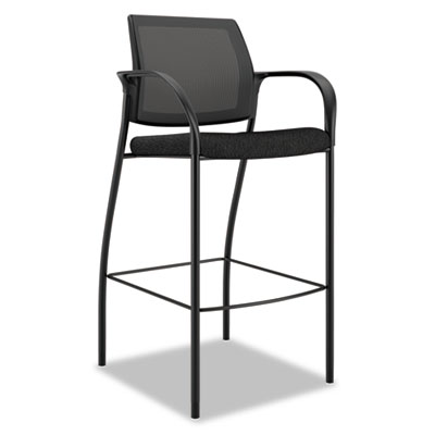 Ignition series mesh back caf? height stool, black fabric upholstery, sold as 1 each