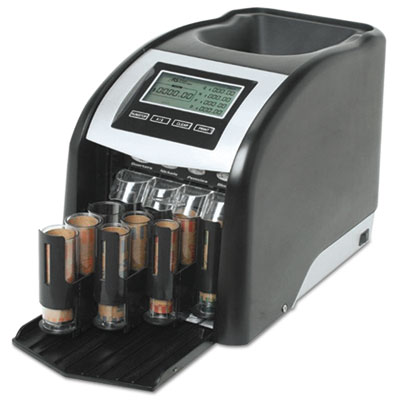 Fast sort fs-44p digital coin sorter, pennies through quarters, black/silver, sold as 1 each